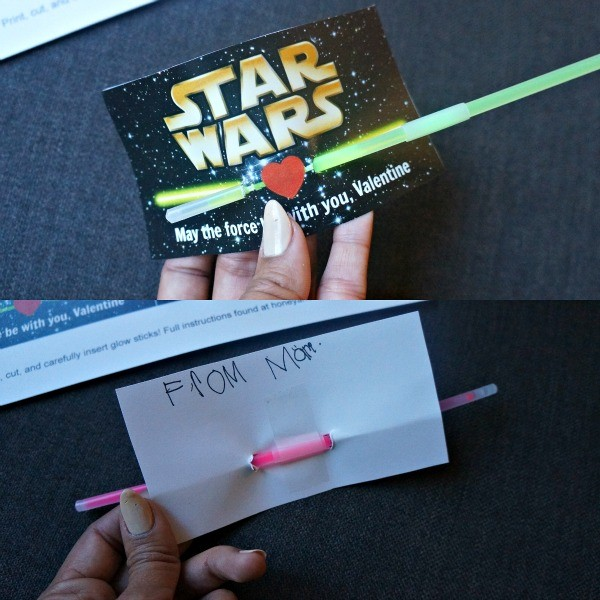 How to make Star Wars light saber Valentine cards