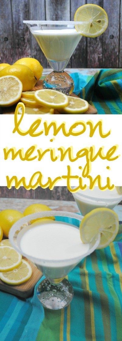 Lemon Meringue Martini Recipe - this is one of the best lemon martini cocktails I've ever had!