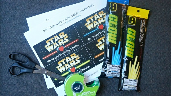photo relating to Lightsaber Valentine Printable named Star Wars Printable Valentines: Lightsaber Shine Adhere