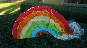 Over the rainbow suncatcher craft - a fun spring art project for kids