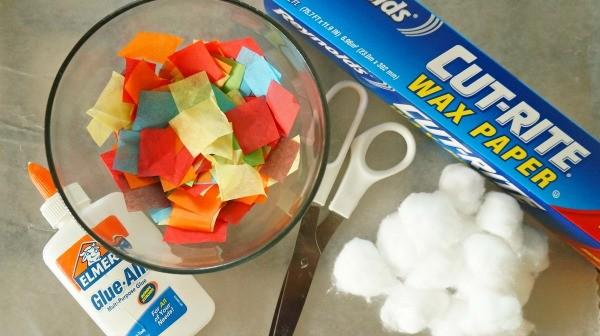 Over the rainbow suncatcher craft, materials needed