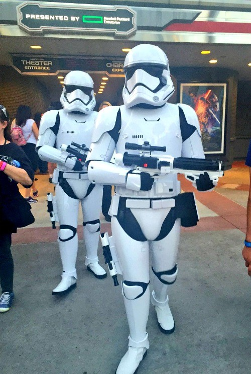 Disney's Hollywood Studios, Star Wars Storm troopers patroling the streets