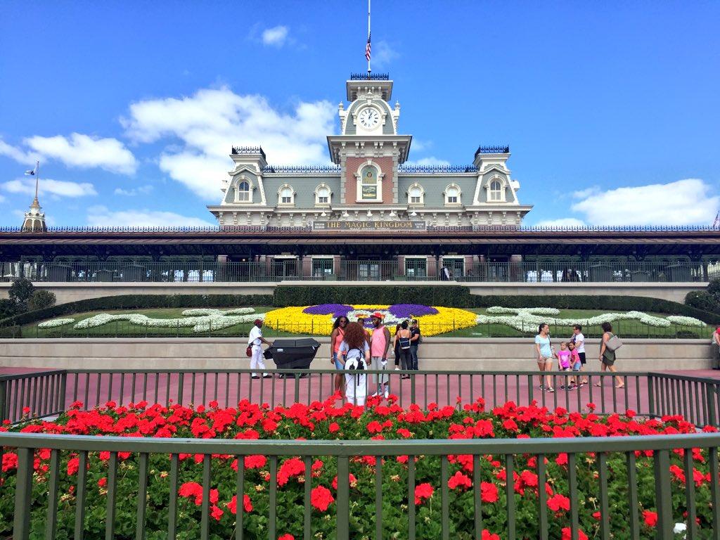 Disney's Magic Kingdom Theme Park entrance, Main Street USA Railroad