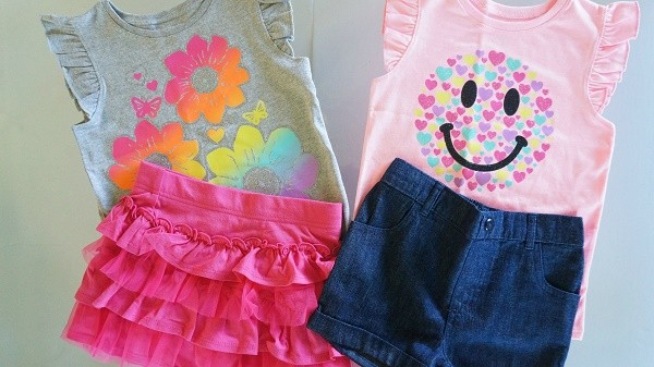 Garanimals toddler girls spring mix and match tops, shorts and skirts