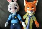 Zootopia Nick Wilde and Judy Hopps plush stuffed animals