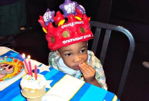 Birthday boy at Chuck E. Cheese's!