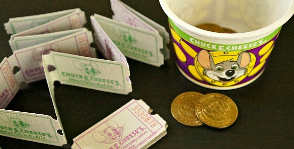 Chuck E. Cheese's tickets and tokens