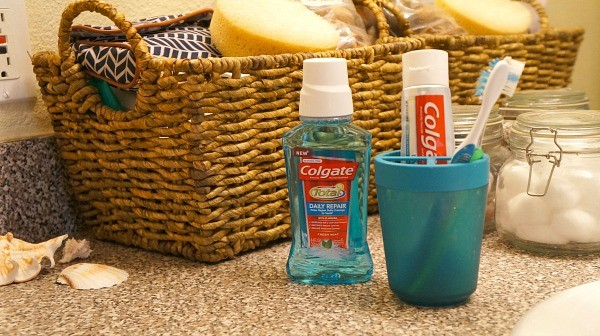 Colgate Total Repair toothpaste and mouthwash regimen