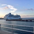 Fathom travel, the Adonia ship docked in Amber Cove, Dominican Republic