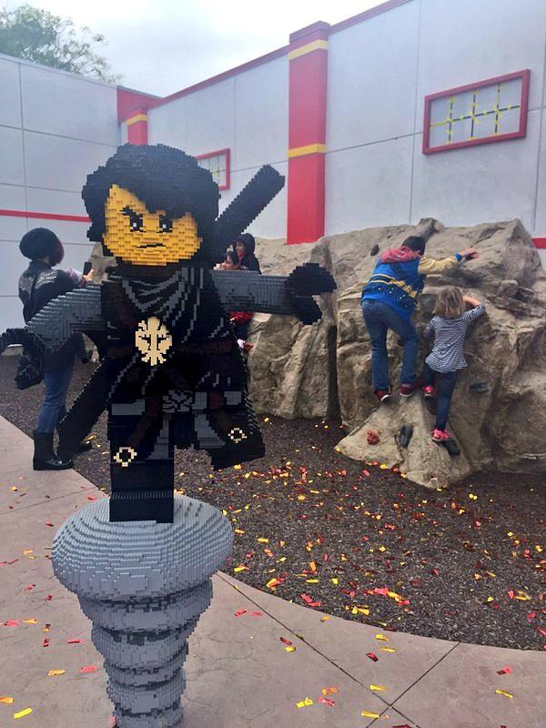 Legoland California rock climbing wall at Ninjago World