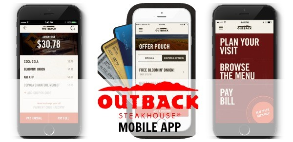 Outback Steakhouse mobile app