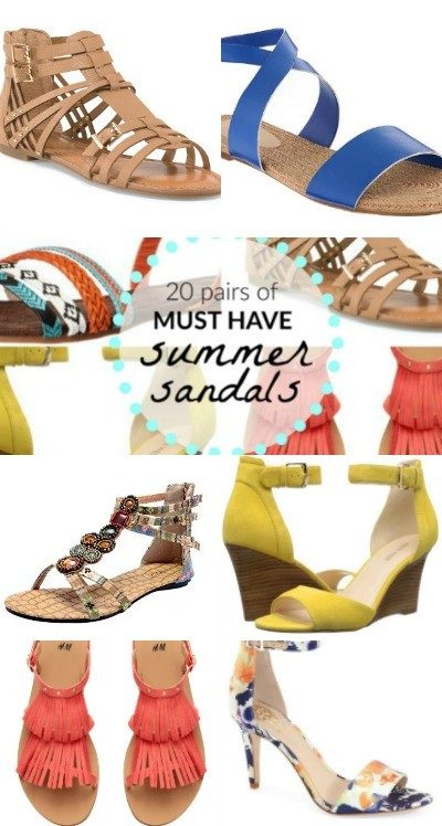 20 Pairs of Must Have Summer Sandals: Flats, Wedges & Heels