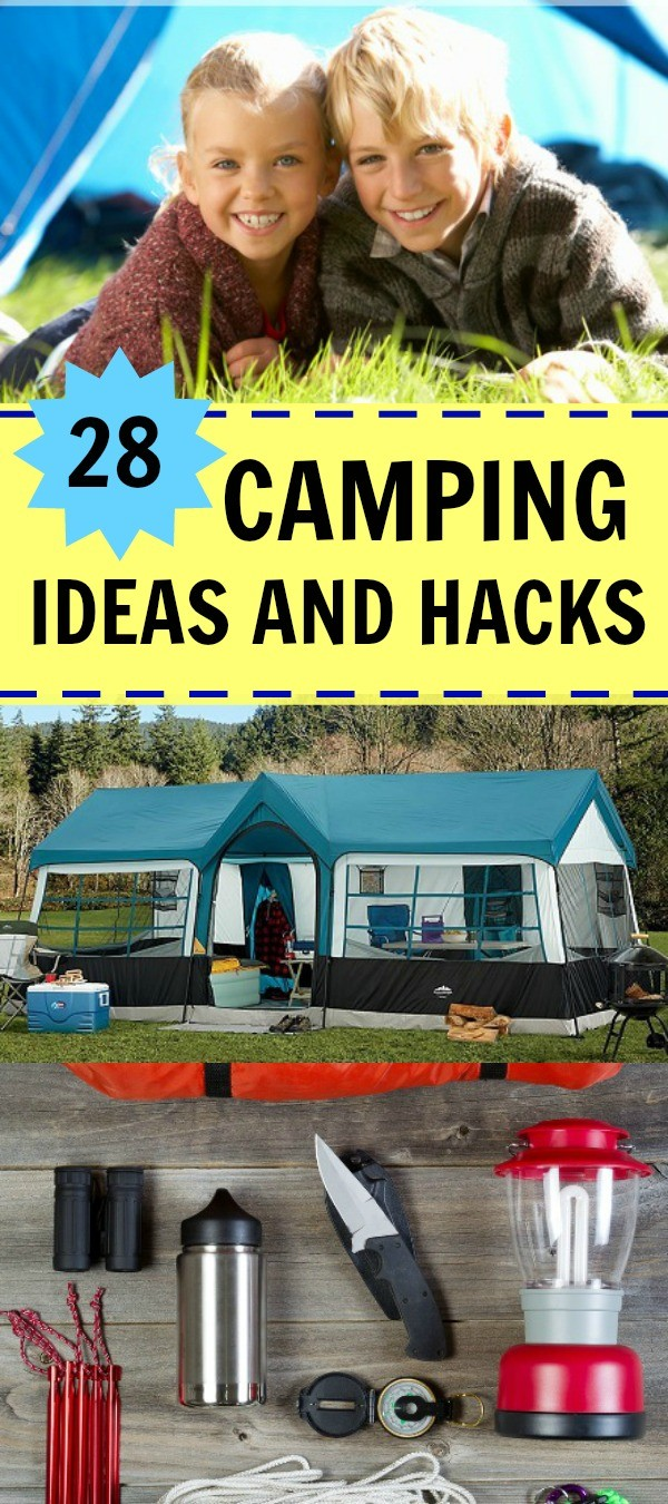 28 Awesome Camping Ideas and Hacks - Why didn't I think of these, some of these camping hacks are so smart!