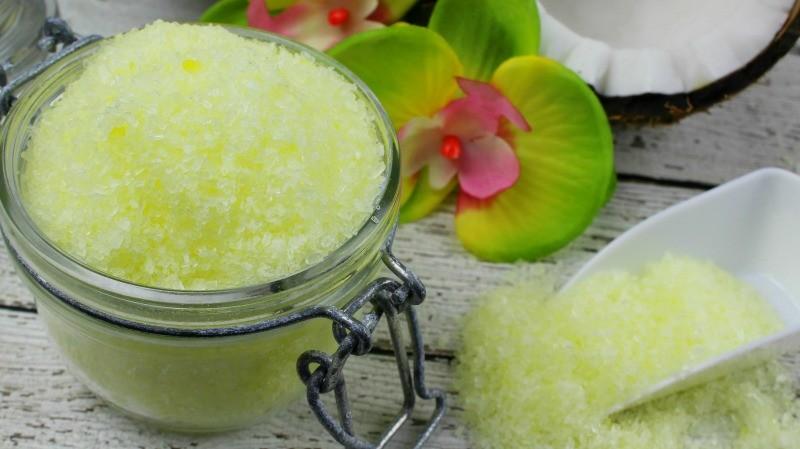DIY Pina Colada bath salts recipe