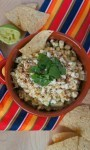Elote avocado corn dip - this is Mexican street corn in a bowl is delicious, perfect for Cinco de Mayo parties!