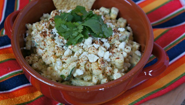 Elote Avocado Corn Dip Recipe - Mexican Street Corn In A Bowl!