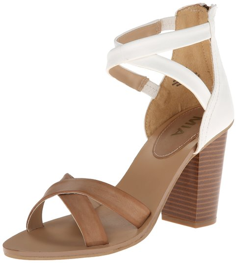 Two Strap Slide Sandals Brown