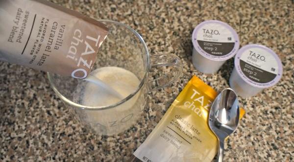 Tazo® Tea Chai Latte Kcups - An easy two step process