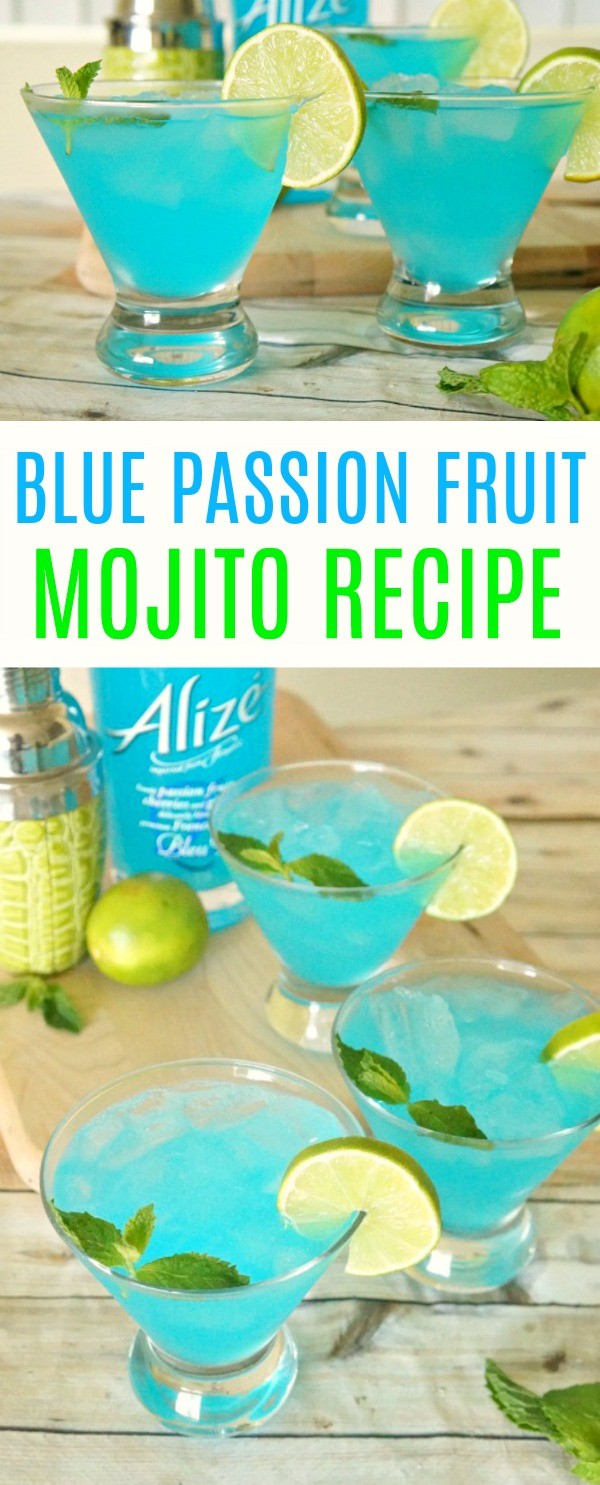 Blue Passion Fruit Mojito Recipe- A Refreshing Summer Cocktail!