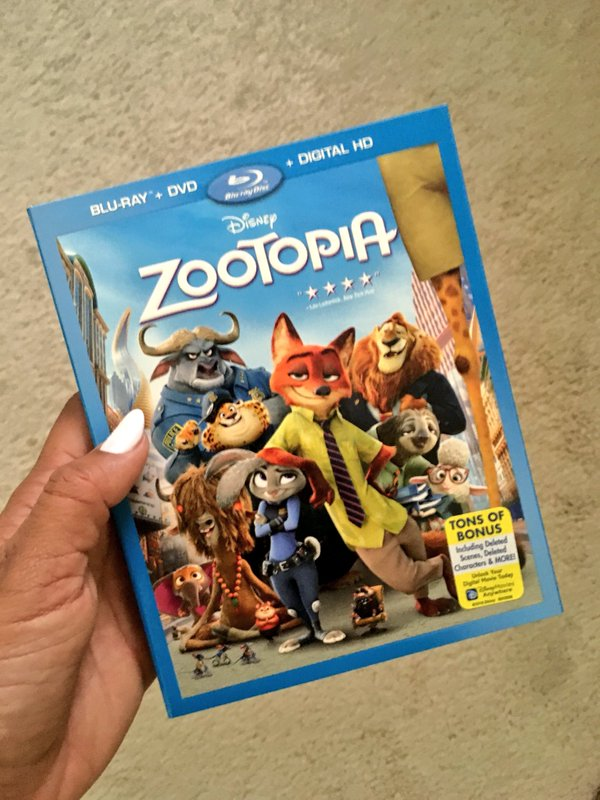 Disney's ZOOTOPIA Now Available On DVD Blu-ray, watch at home