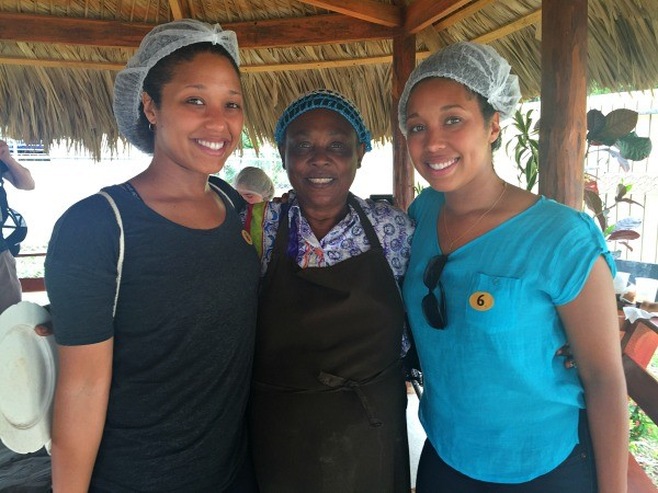Fathom travel, working with local women at Chocal Artisan hand made chocolate factory in Alta Mira, Dominican Republic