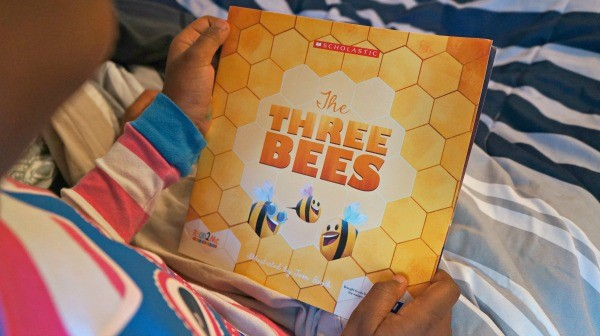 Add reading to your child's bedtime routine, Scholastic The Three Bees book