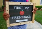 DIY first day of school sign for preschool