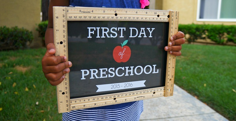 image relating to Last Day of Preschool Sign Printable referred to as Do-it-yourself Initial Working day of University Signs and symptoms Ruler Craft - Pre-K up toward