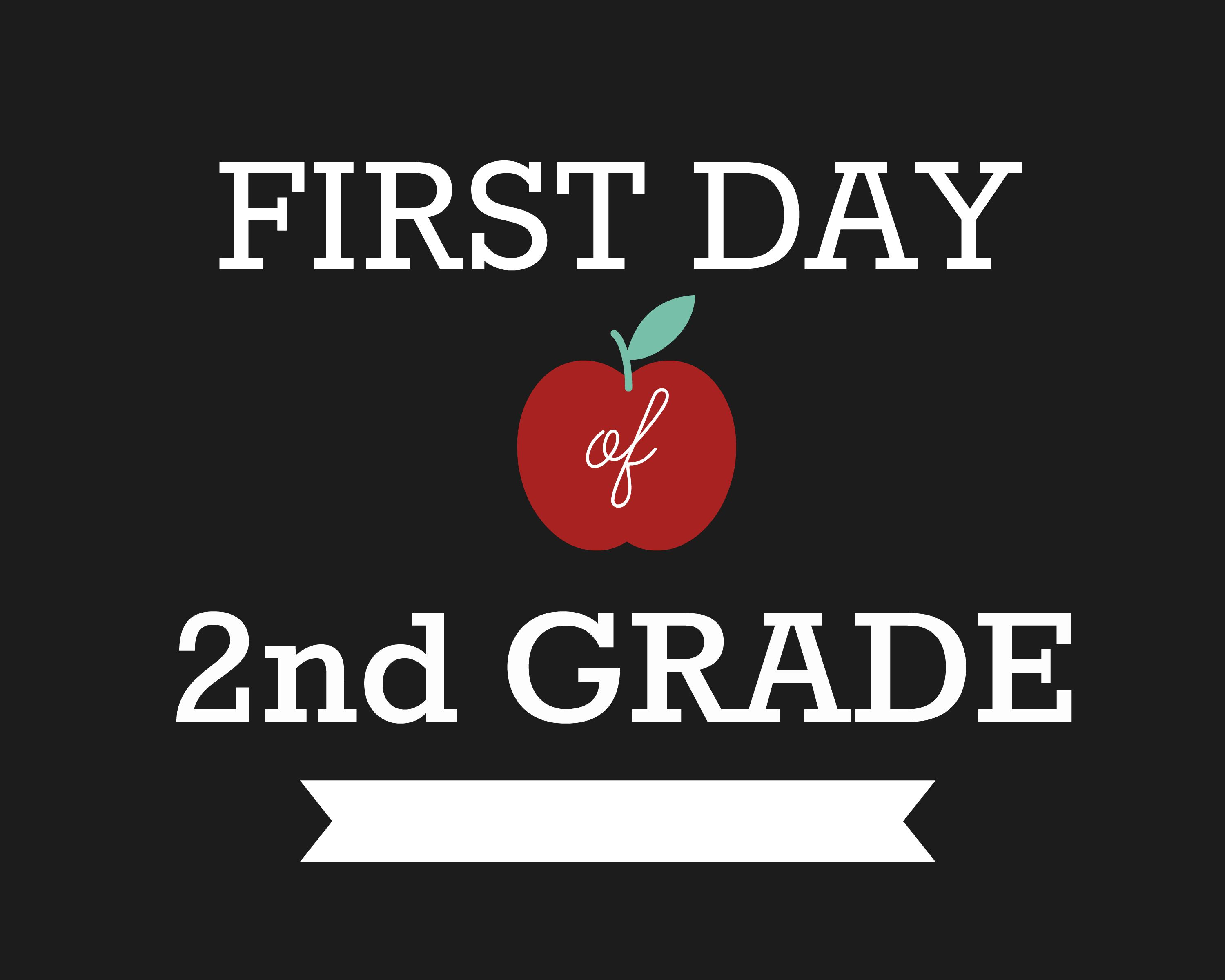 photo regarding First Day of Second Grade Printable Sign known as Do-it-yourself Initial Working day of Higher education Symptoms Ruler Craft - Pre-K up towards