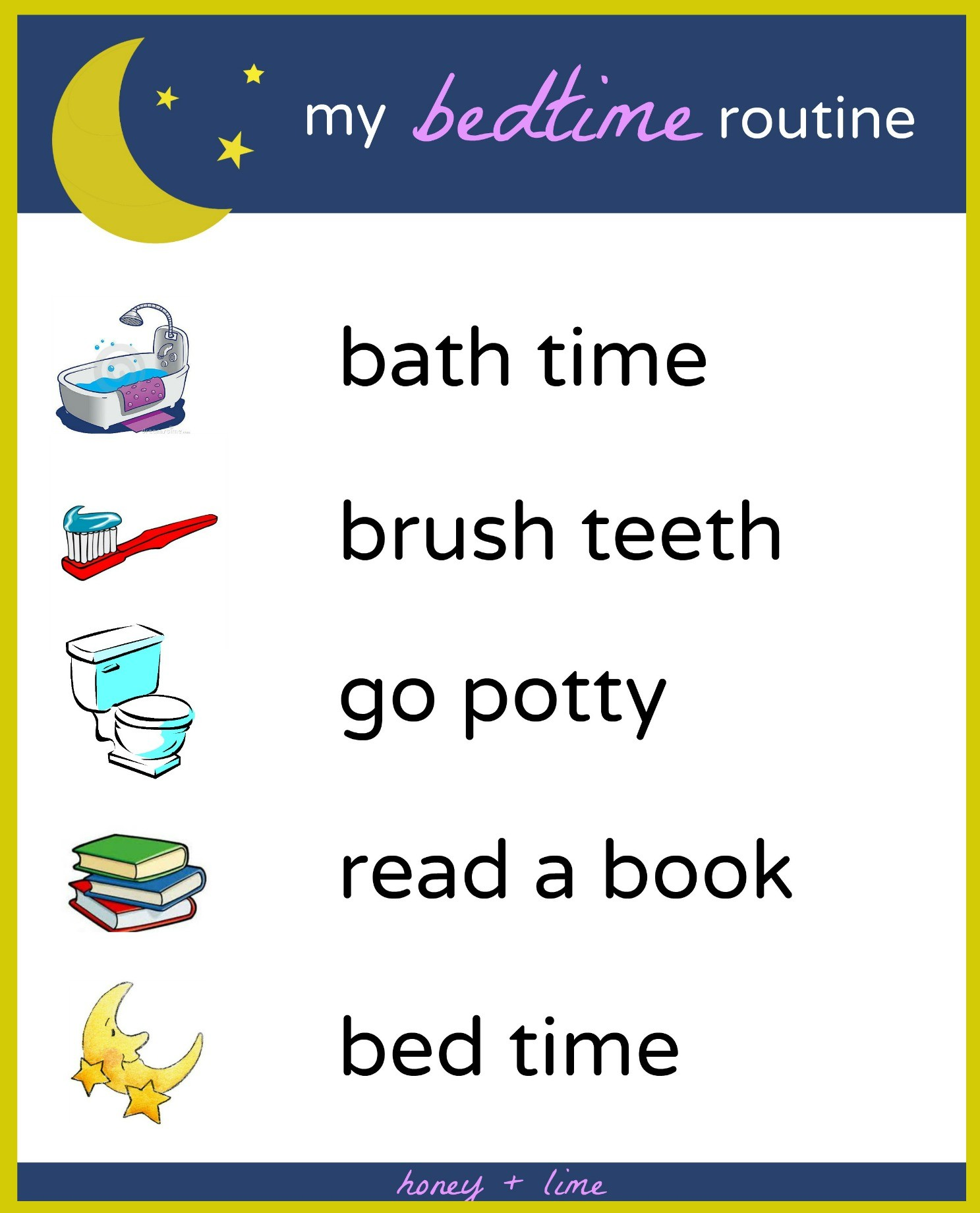 Brush, Book, Bed: A Printable Bedtime Routine Chart for Kids