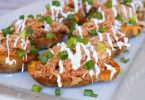 Loaded barbecue chicken potato skins recipe, love this appetizer!