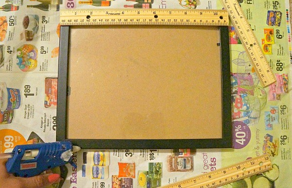 Making DIY first day of school signs ruler frame