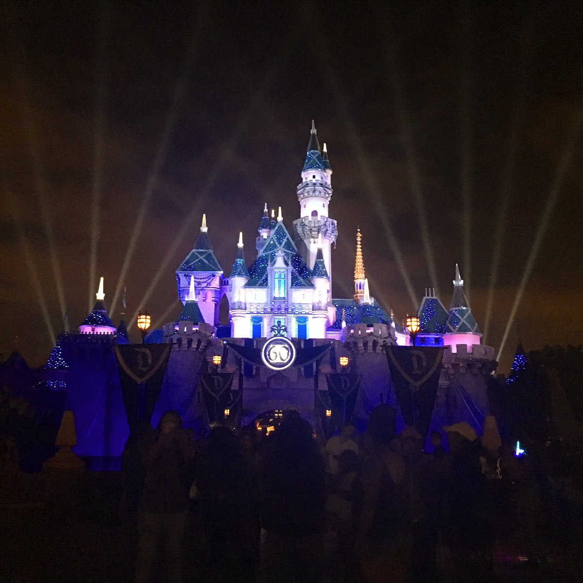 Summer at The Disneyland Resort - The iconic Sleeping Beauty Castle in Fantasyland all lit up at night
