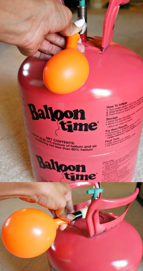 Blowing up balloons is easy with the Balloon Time standard helium tank