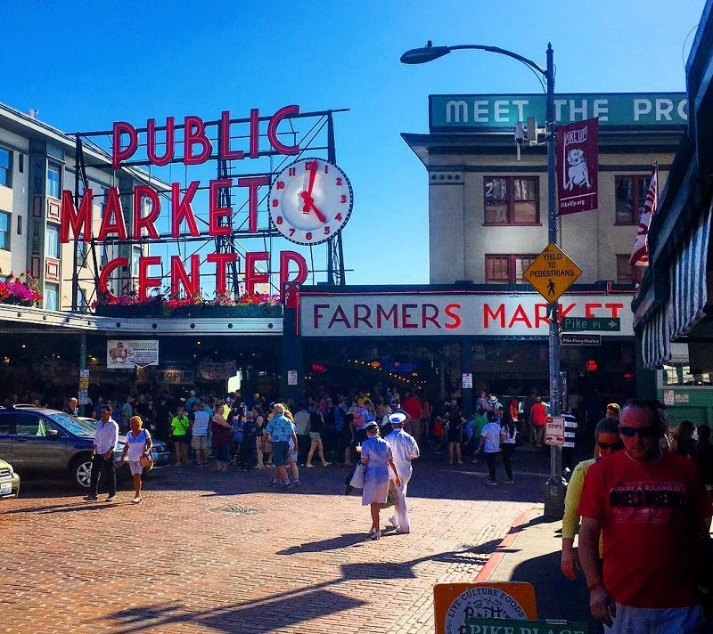Pike Place Market is one of the top things to do with kids in Downtown Seattle