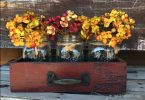 fall-home-decor-ideas-wooden-distressed-drawers-with-mason-jar-flower-vases