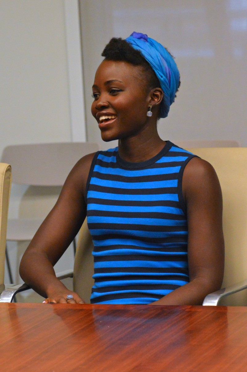 Interview with Lupita Nyong'o for Disney's Queen of Katwe movie at Walt Disney Studios, Los Angeles, CA
