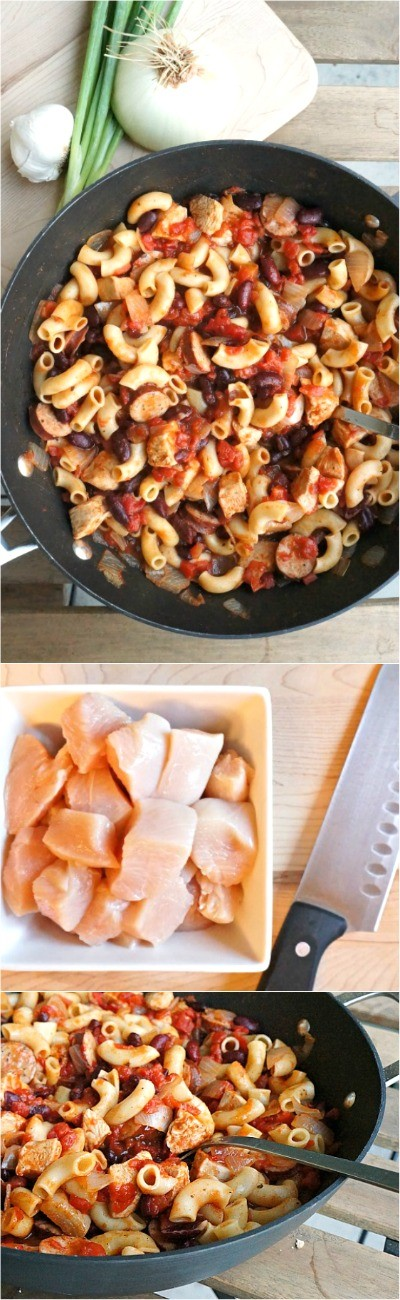 Omg, this one pot chicken and sausage chili pasta is sooooo good! My kids love it, one of the best hearty chili recipes, our favorite comfort food for sure