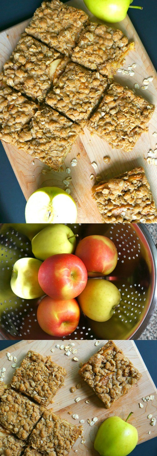 OMG this apple cinnamon oatmeal bars recipe is amazing! Made with raw oats and fresh fall apples, these apple oatmeal bars are pretty easy to make. Top with vanilla ice cream, yum!