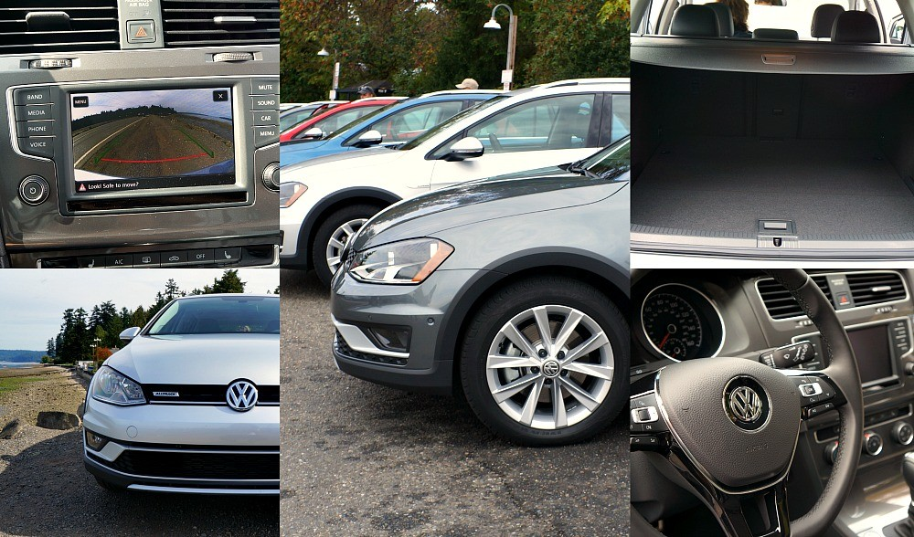 Special features of the Volkswagen 2017 Golf AllTrack car - Touch screen entertainment system, 18-inch alloy wheels, off road mode, lots of cargo space, 5 star safety rating, many colors available