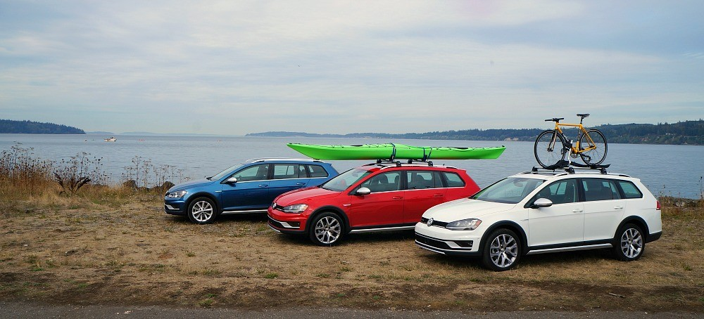 The new 2017 Volkswagen Golf AllTrack is a safe, sleek, and versatile vehicle that comes in so many colors!