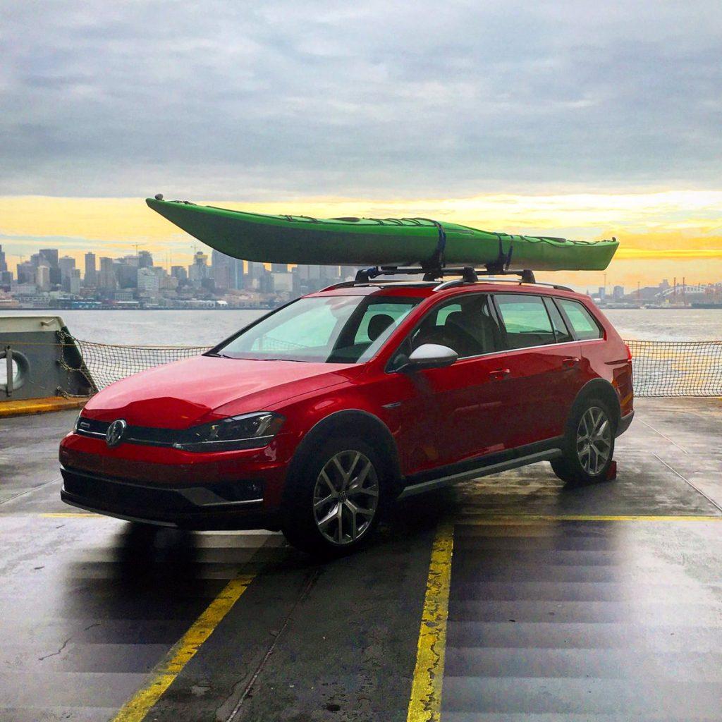 Day trip to Bainbridge Island - The new 2017 Volkswagen Golf Alltrack riding on the Washington State Ferry to Bainbridge Island