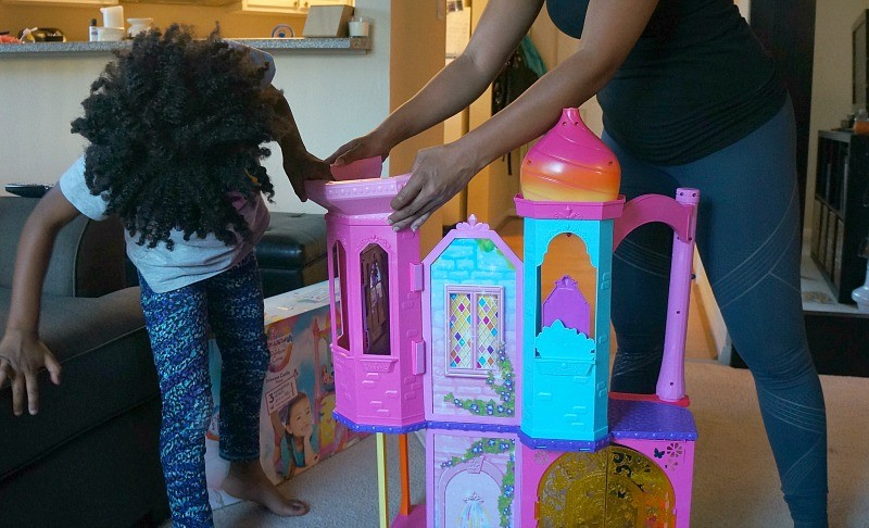 Building the The Barbie® Rainbow Cove™ Princess Castle Playset