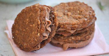 Chocolate hazelnut cookie sandwiches recipe