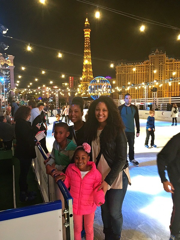Christmas in Las Vegas - Family at the Ice Rink at The Cosmopolitan