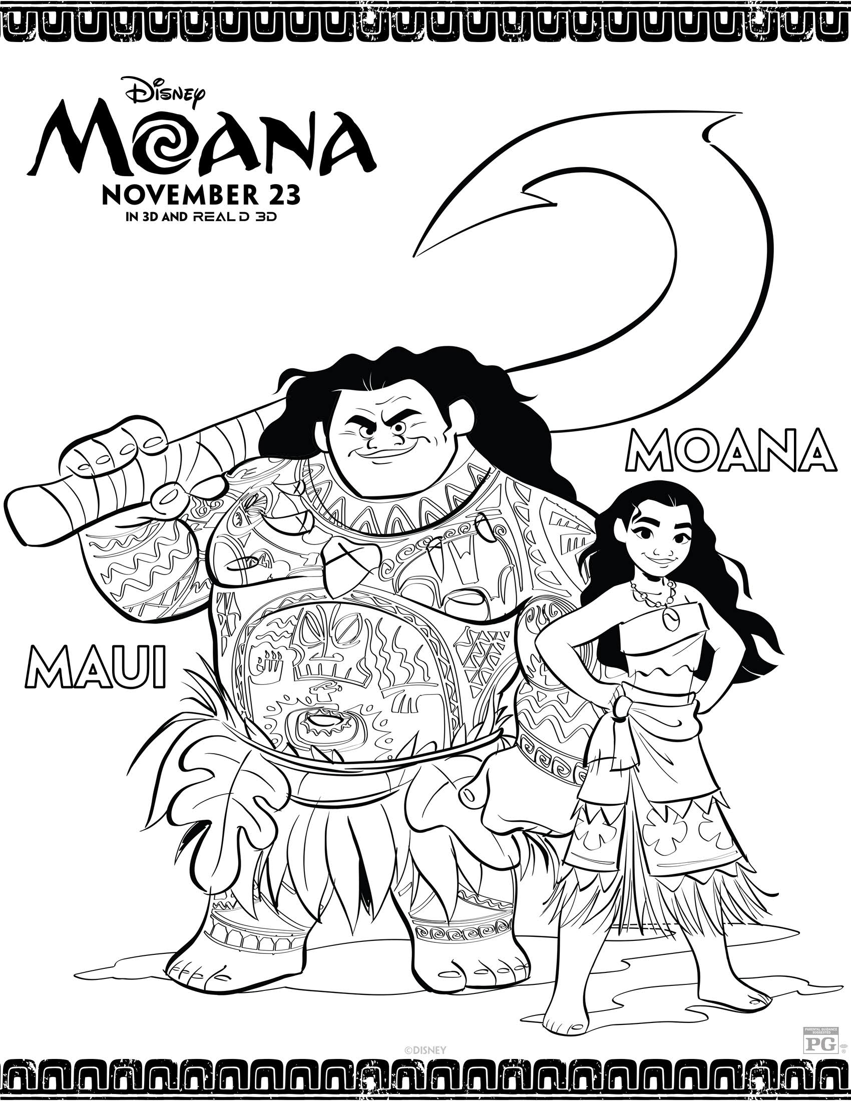 Disney's Moana Coloring Pages and Activity Sheets Printables!