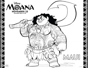 Disney's Moana coloring pages 3