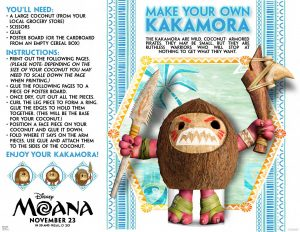 Disney's Moana coloring pages and activity sheets, make your own Kakamora