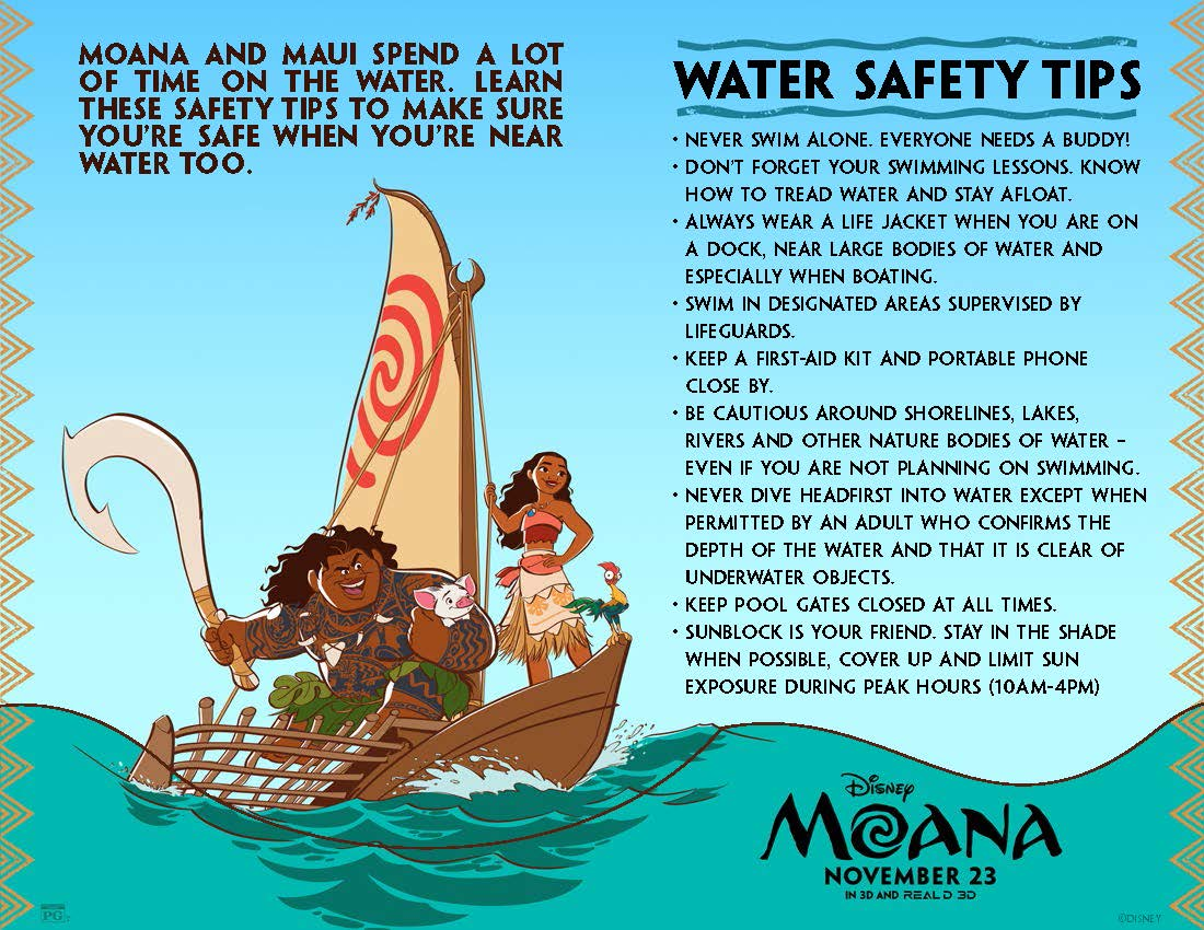 Make A Hexaflexagon Disneys Moana Coloring Pages And Activity Sheets Water Safety Tips
