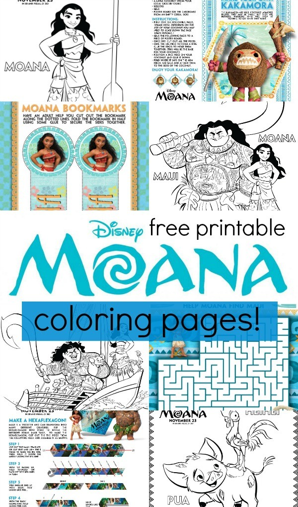 Disney\'s Moana Coloring Pages and Activity Sheets Printables!